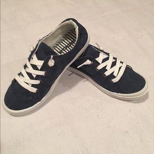 Shoes - Blue Denim Sneakers